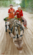 Donkey Cart on the Silk Road